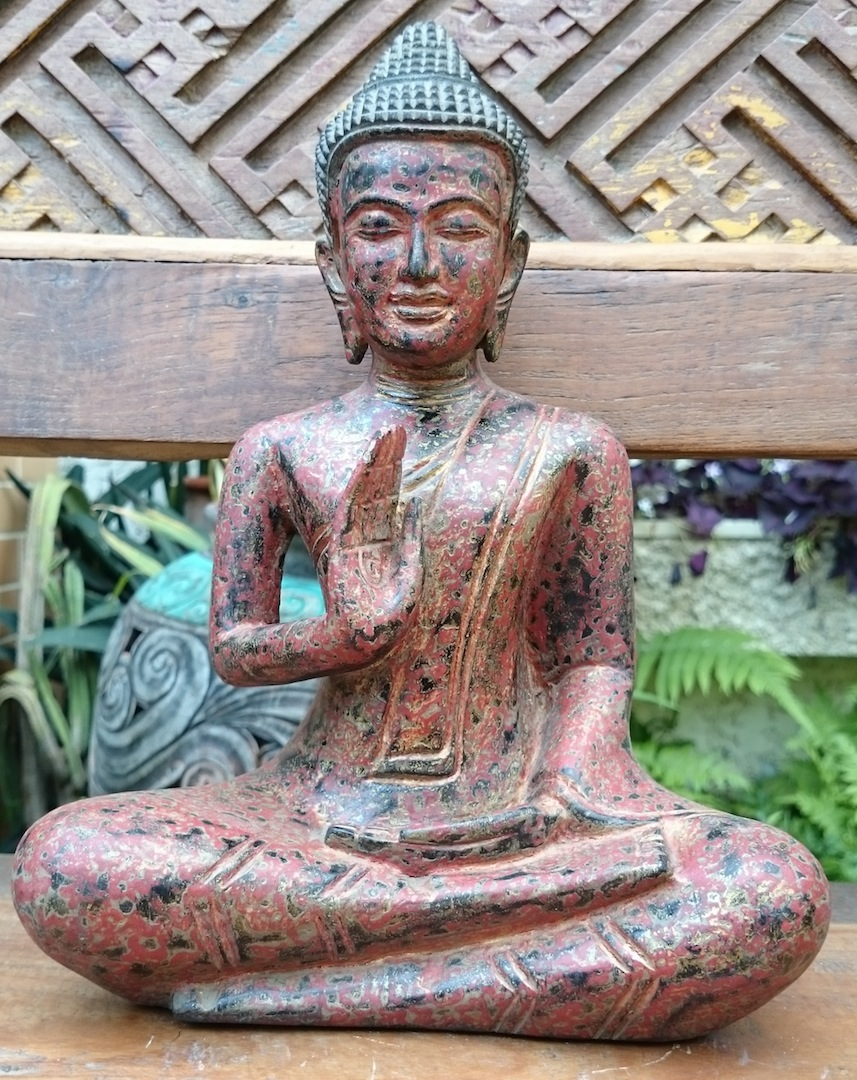 Nongnit's Treasures:  Khmer Style Seated Buddha