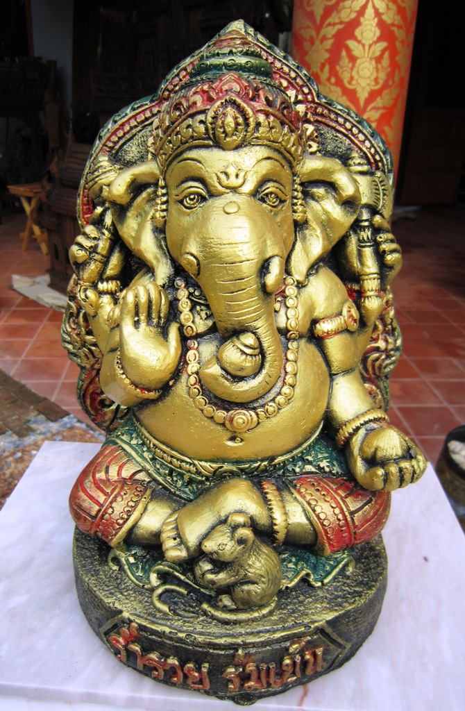 Sandstone Multi Color Gold Ganesh
