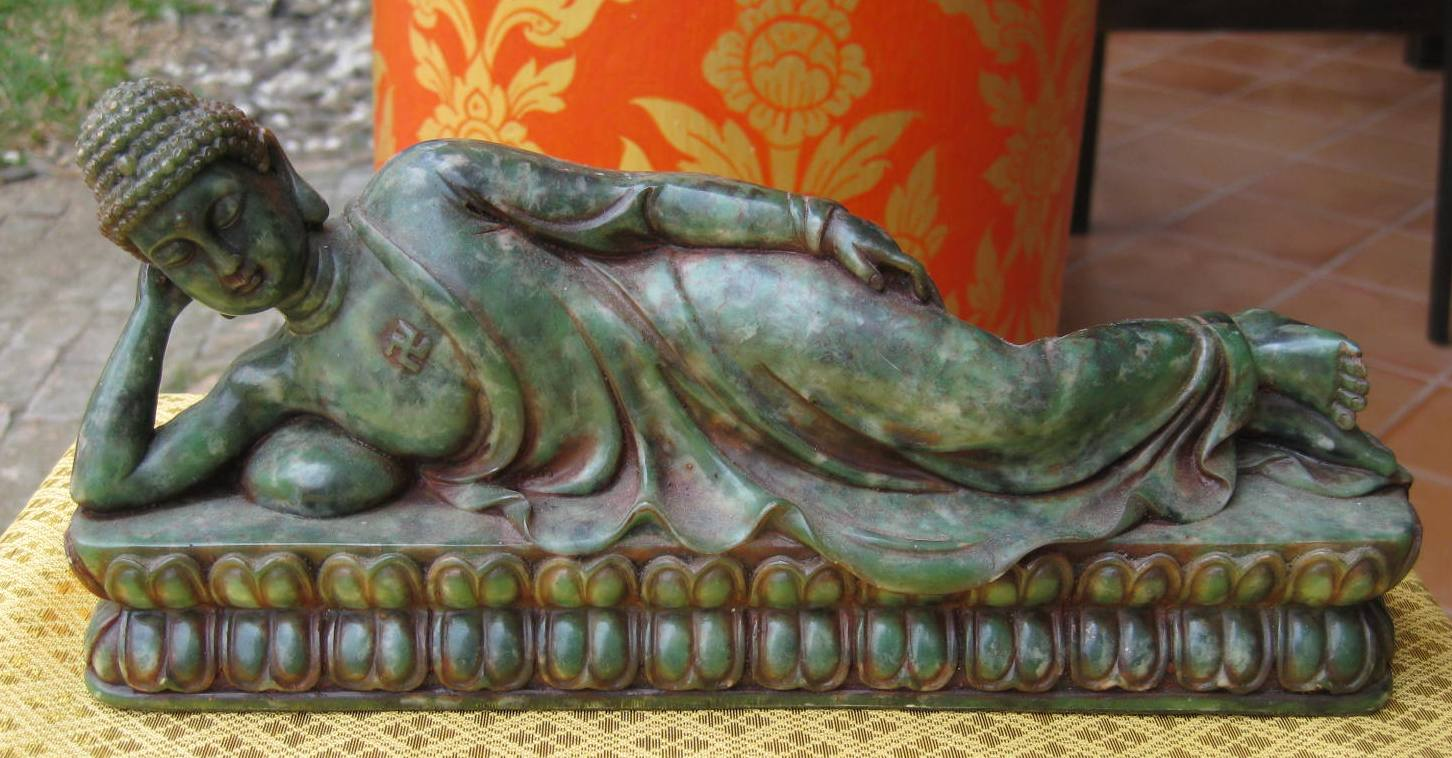 Small Marble Reclining Tuesday Buddha