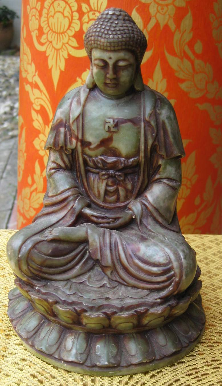 marble Buddha on lotus