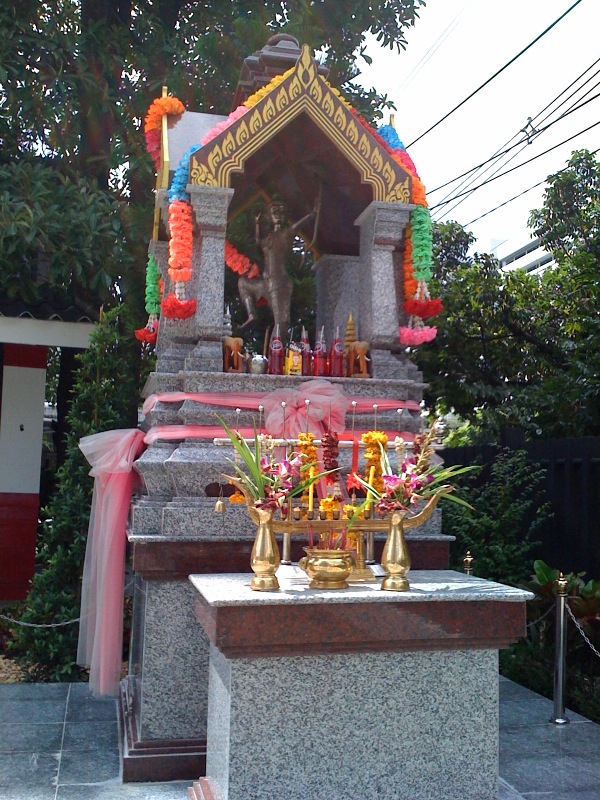 Set of Granite & Marble Spirit House and Stand
