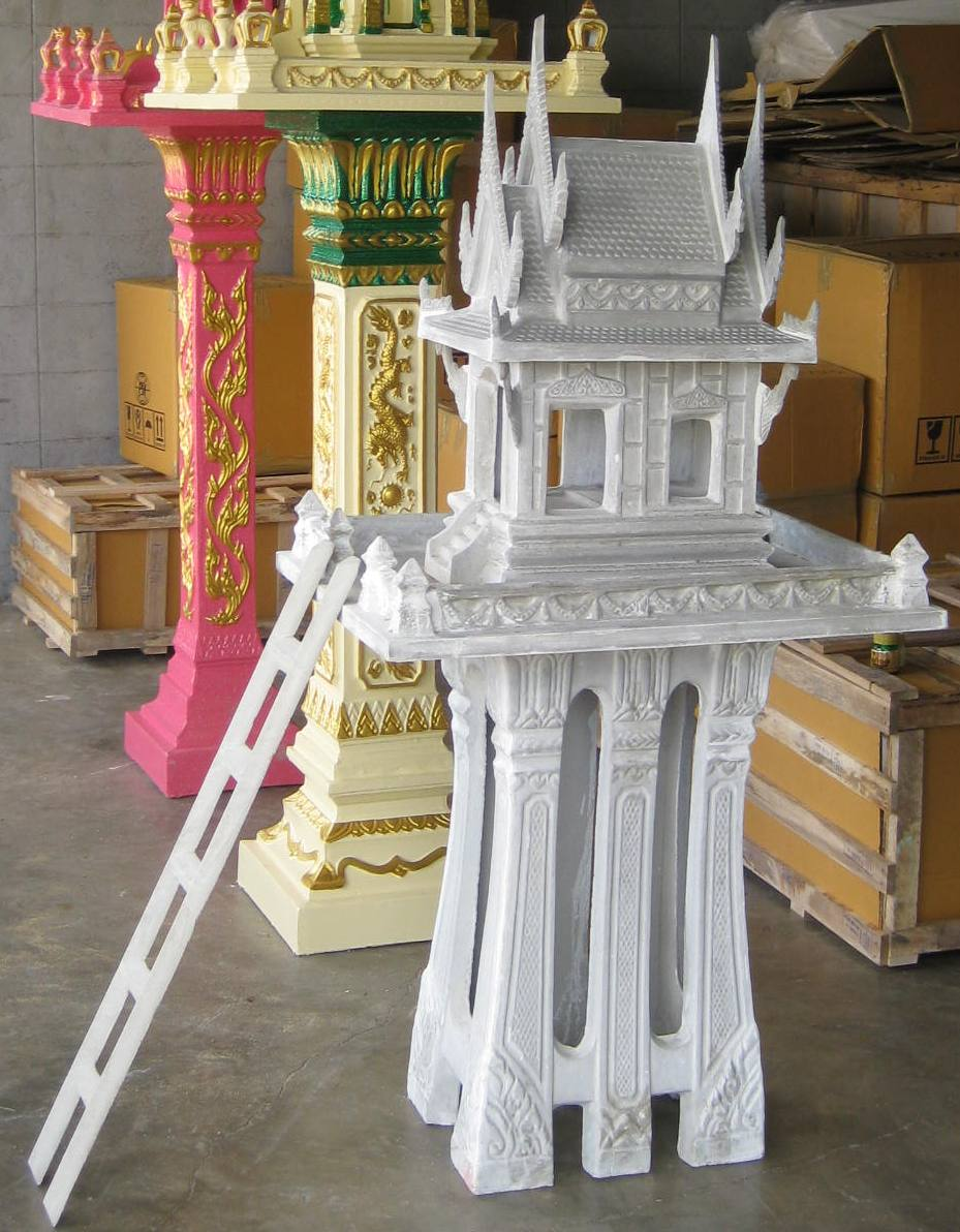 Thai Spirit House natural unfinished