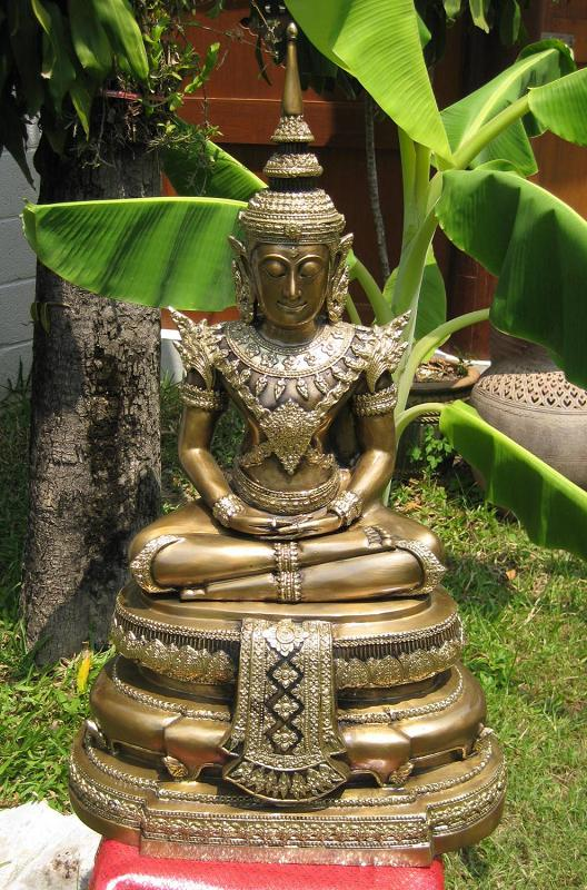 Emerald Buddha in Brass