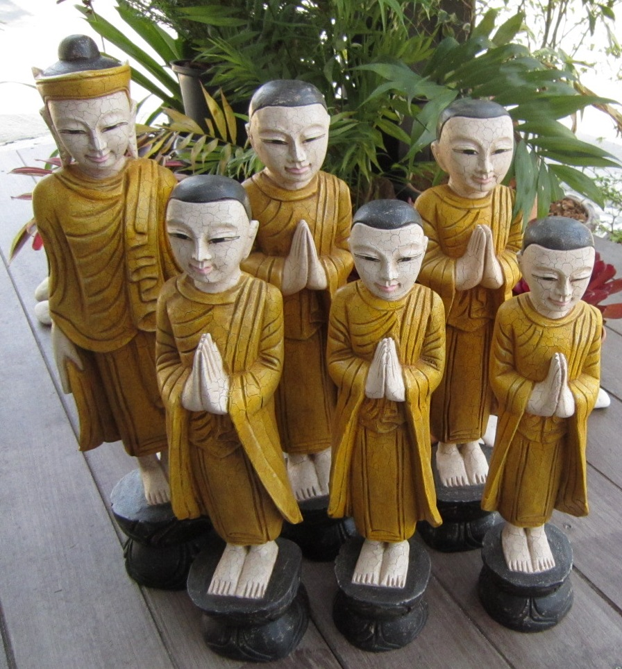 Buddha and Disciples Set Yellow