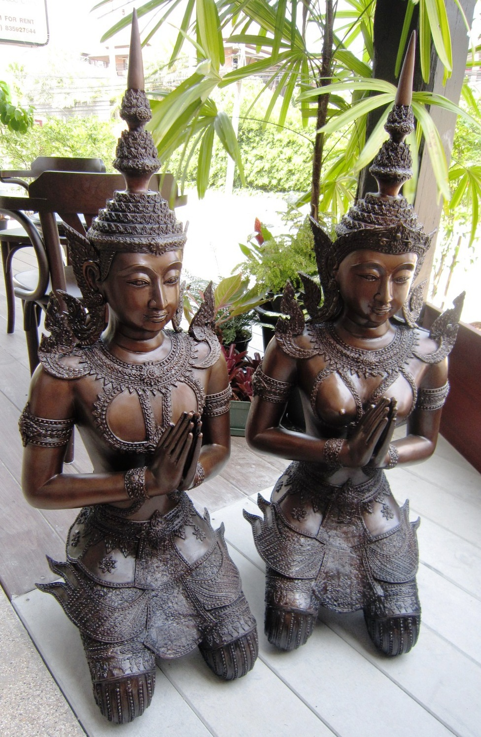 Pair of Bronze Teppanom