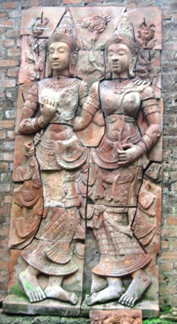 Hand Carved Terra Cotta Wall Panel