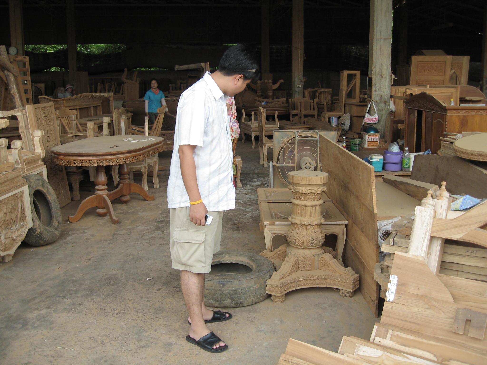 Wood Furniture Factory, Chiangmai, Thailand